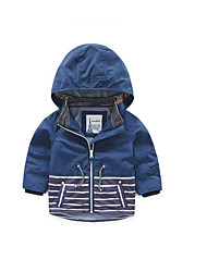 Boy's Casual/Daily Striped Jacket & CoatPolyester Spring / Fall Blue