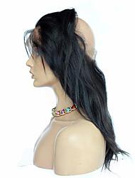 360 frontal Droit (Straight) Cheveux humains Fermeture Brun roux Dentelle Française 75-95 gramme Moyenne Taille du Bonnet