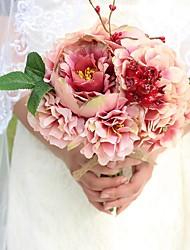 """Fleurs de mariage Rond Pivoines Bouquets Mariage Soie Mousse 7.87""""(Env.20cm)"""