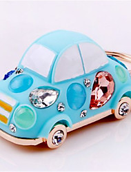 Zinc Alloy Car Key Ring Beetle Crystal Car Key Ring