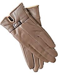 Leather Gloves (Khaki)