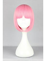 nouvelle mode à court bob belles bangs pleines fraîches smart chaleur rose cheveux résistants de haute qualité perruque lolita