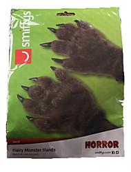 1pc gants de patte à fourrure pour costume de halloween