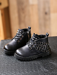 Boy's Boots Comfort Synthetic Casual Black / Brown