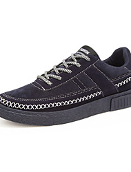 Men's Sneakers Spring / Fall / Winter Comfort Canvas Athletic / Casual Flat Heel Lace-up Black / Blue / Gray Walking / Running