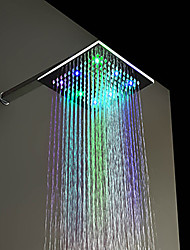 Contemporary Rain Shower Chrome Feature for  LED / Rainfall , Shower Head