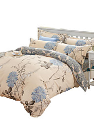 Mingjie Wonderful Grey and Blue Flowers Bedding Sets 4PCS for Twin Full Queen King Size from China Contian 1 Duvet Cover 1 Flatsheet 2 Pillowcases