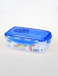 пищевая вакуумная пластиковая многоразовая контейнер с зажимом замка