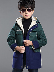 Boy's Casual/Daily Solid Down & Cotton PaddedCotton / Spandex Winter Brown / Green / Red