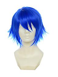vocaloid kaito itsuka tenma não kuro usagi multiuso azul revolvido curto halloween perucas perucas traje perucas sintéticas
