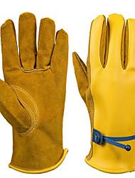 pu couro cor luvas de proteção óleo amarelo