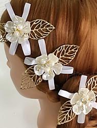 Mulheres Strass Liga Acrilíco Capacete-Casamento Ocasião Especial Casual Flores Clip para o Cabelo 3 Peças