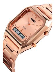 SKMEI Мужской Спортивные часы электронные часыLCD Календарь Защита от влаги С двумя часовыми поясами С тремя часовыми поясами тревога