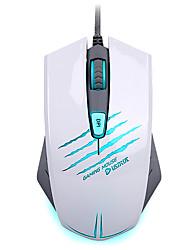 jogo do rato 4000dpi ergonomia programável jogos multimédia mouse com fio com 3 cores personalizado luz de respiração