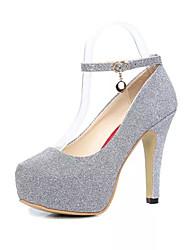 Damen-High Heels-Kleid-PU-Stöckelabsatz-Komfort-Schwarz / Lila / Silber
