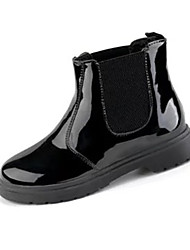 Women's Boots Winter Comfort PU Dress / Casual Low Heel Others Black / White Walking