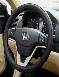 White Leather Matte Leather Steering Wheel Cover Leather PU Leather Car Sets