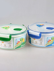 grau alimentício microondas lancheira rodada seguro com tampa de bloqueio