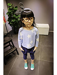 Girl's Casual/Daily Print TeeCotton Spring / Fall Blue