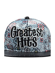 Casual Letter Embroidery Geometric Patterns Floral Print Hip-Hop Flat Baseball Caps For Men And Women