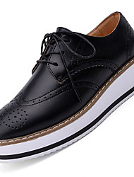 Women's Oxfords Spring / Summer / Fall / Winter Platform / Creepers Cowhide Outdoor / Office & Career /  Black /