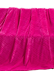 Toison de Coral Rose,Solide Solide 100 % Polyester couvertures 200x230cm