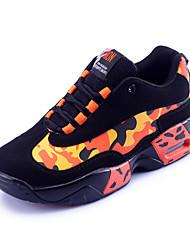 Homme-Sport-Jaune Orange-Talon Plat-Confort-Baskets-Polyuréthane