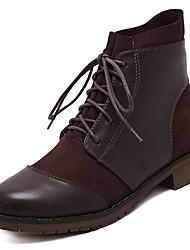 Women's Boots Platform Leatherette Casual Black