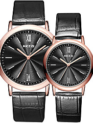 Kezzi Couple's Fashion Quartz Casual Watch Simple Personality Round Alloy Dial Watch Cool Watch Unique Watch Strap Watch