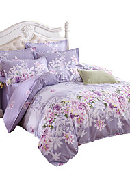 Mingjie Wonderful Purple Flowers Bedding Sets 4PCS for Girls Twin Full Queen King Size from China