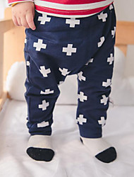 Baby Casual/Daily Print PantsCotton Spring Blue