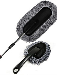 Gray Wax Brush Two - Piece Car Cleaning Kit Wax Trailers Towel Telescopic Wax Trailers Duster