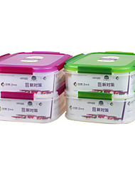 Eco Airtight Double Layer Food Crisper Lunch Container