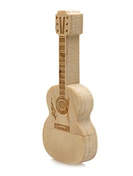 neutro Produto Wooden Guitar 32GB USB 2.0 Resistente ao Choque