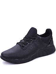 Men Sneakers Spring / Summer / Fall Ankle Strap Spandex Fabric Outdoor / Athletic / Casual Flat Heel Split JointBlack
