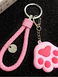 luminoso som chaveiro garra gato bolsas bonitos chaveiro tecelagem anel chave do carro