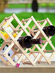 Casiers à Bouteilles Bois,44*43*31CM Du vin Accessoires