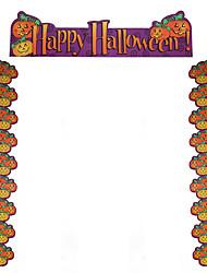 1PC Halloween Party Decor Gift Novelty Terrorist Ornaments Dress Up Door Accessories Pumpkin Couplet