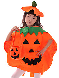 Children 's Cosplay Festivals Party Pumpkin Clothes Kid Orange Pumpkin Clothing Cloak Hat Suits