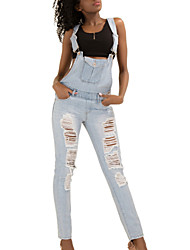 Shaperdiva Women  Ripped Denim Butt Lifting Jeans Casual Jumpsuits