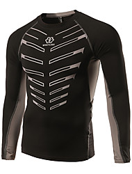 Cycling Jersey Men's Long Sleeve Bike Jersey Quick Dry Lightweight Materials Reduces Chafing Low-friction Cotton Classic Fashion