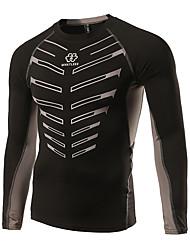 Esportivo Camisa para Ciclismo Homens Manga Comprida Moto Secagem Rápida / Materiais Leves / Reduz a Irritação / Baixa Fricção