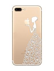 Für iPhone 8 iPhone 8 Plus iPhone 7 iPhone 6 iPhone 5 Hülle Hüllen Cover Ultra dünn Transparent Muster Rückseitenabdeckung Hülle Spaß mit