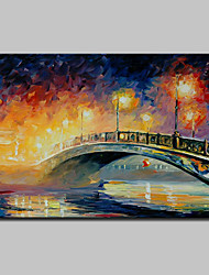 Hand Painted Knife Landscape Oil Paintings On Canvas Modern Abstract Wall Art Pictures For Home Decoration Ready To Hang