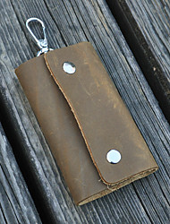 Unisex Cowhide Casual / Outdoor Key Holder
