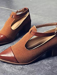 Femme-Décontracté--Gros Talon Block Heel-Confort-Chaussures à Talons-Polyuréthane