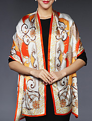 Women Silk Scarf,Casual RectanglePrint