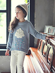 Girl's Casual/Daily Solid Sweater & CardiganCotton Winter / Fall Blue