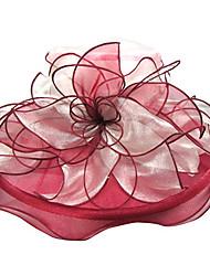 Voiles de Mariée Une couche Voiles Blush Bord ruban Organza