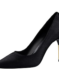 Women's Heels Winter Comfort Suede Dress Stiletto Heel Others Black Red Gray Khaki